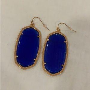 Kendra Scott Danielle earrings cobalt blue